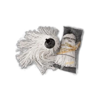 Fregona blanca de algodón de gran duración de 6 cabos
