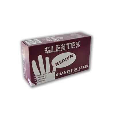 Guante de látex de talla L, calidad medium con reborde