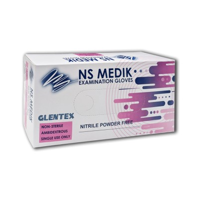 Guante de nitrilo azul, talla M, con reborde, indicados para largos periodos de trabajo, flexibles y confortables