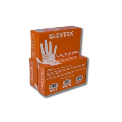 Guante de vinilo transparente, talla S, con reborde especialmente indicados para personas hipersensibles a la proteína del látex