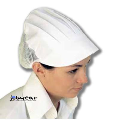 Gorra con rejilla y visera de color blanco