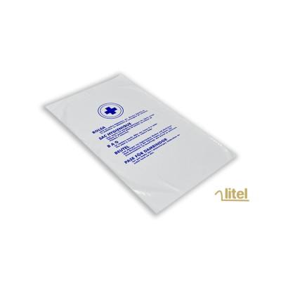 Bolsa higiénica de 15,5x26 cm, para compresas con impresión estándar especial para hoteles