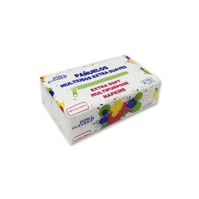 Pañuelos de 2 capas tisue multiusos en paquete dispensador