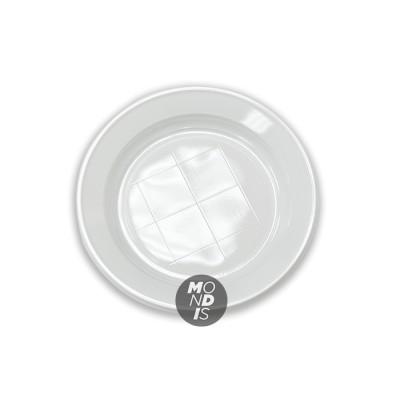 Plato de postre de 17 cm plástico blanco