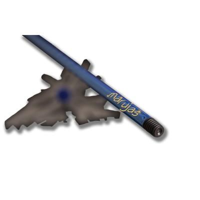 Palo de 1,40 mts, metálico de color azul elegant, forrado y anti-deslizante con grosor especial con una máxima resistencia