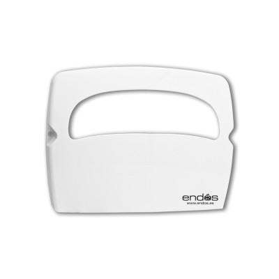 Dispensador para el papel protector de asiento WC de color blanco