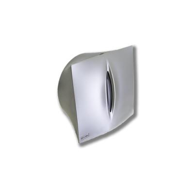 """Porta-rollos modelo Elite para papel higiénico fabricado en abs de color """"acero líquido"""" con llave y visor del nivel del rollo"""