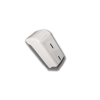 Porta-rollo o dispensador para papel higiénico engarzado o en zigzag modelo Teyde de policarbonato de color blanco con llave