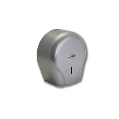 Porta-rollo modelo Teyde de policarbonato en color acero líquido y cierre con llave