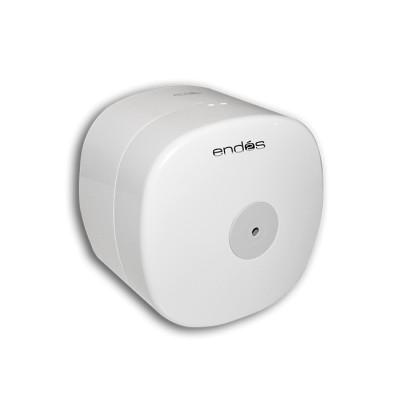 Mini porta rollo de color blanco y transparente, fabricado en ABS para papel extra