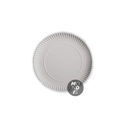 Bandeja redonda cartón blanco de 25 cm