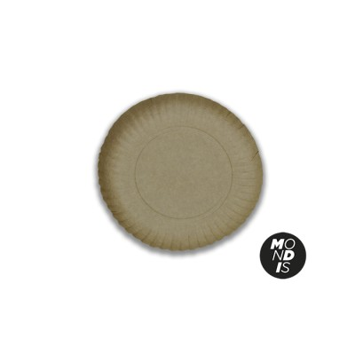 Bandeja redonda cartón kraft de 21 cm especial para blondas rodal