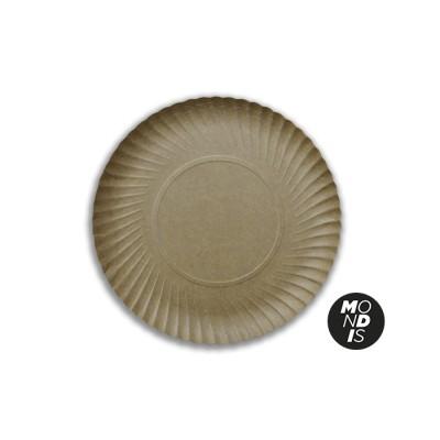 Bandeja redonda cartón kraft de 25 cm especial para blondas rodal