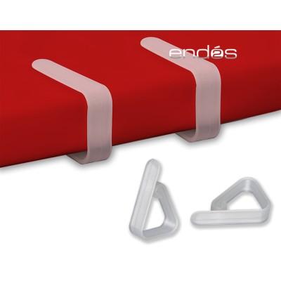 Pinza sujeta-mantel de plástico de color translucido personalizada