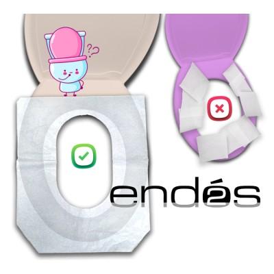 Papel blanco protector para el asiento del WC de 41x 36 cm