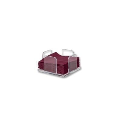 Servilletero para servilletas 20x20 fabricado en metacrilato con capacidad para 50 servilletas