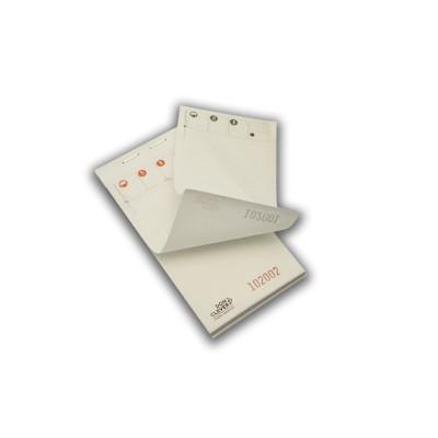 Talonario o bloc de comandas de 7.5 x 15 duplicado de 50 servicios con papel autocopiativo.