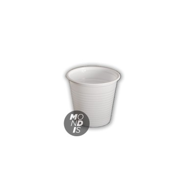 Vaso de plástico de 80cc color blanco