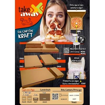 Mesita Guarda pizza en plástico