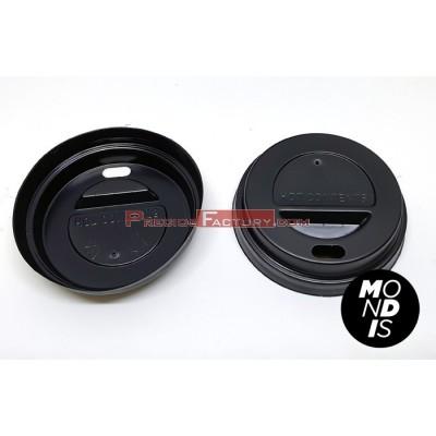 Tapa de color negro para vaso de carton para bedidas calientes 4 oz VCA006