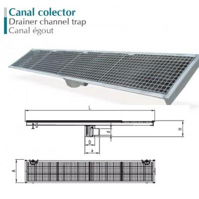 CANAL COLECTOR EN ACERO INOXIDABLE 1000X300 MM. SA