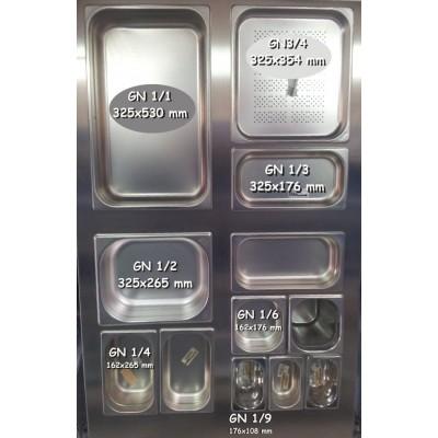 CUBETA GN 1/3 INOXIDABLE 201 0,8 MM