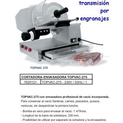 CORTADORA FIAMBRES ENGRANAJES CON ENVASADORA VACIO TOPVAC-27