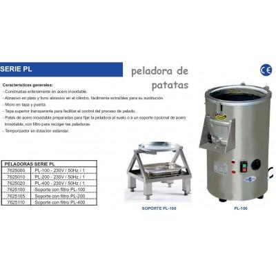 SOPORTE ACERO INOX. PELADORA PL-100