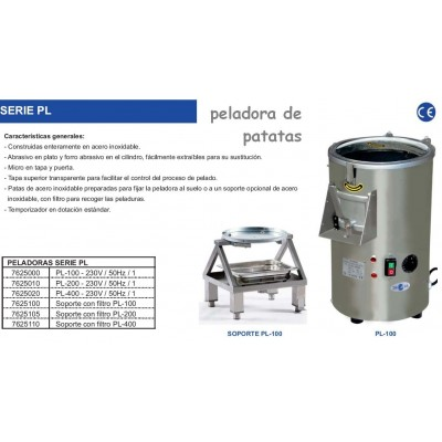 SOPORTE ACERO INOX. PELADORA PL-200