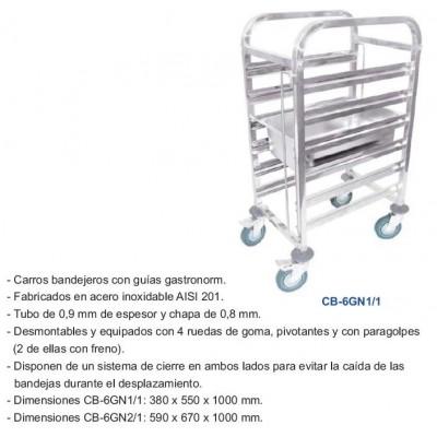 CARRO BANDEJERO CB-6GN1/1