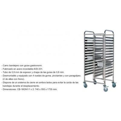 CARRO BANDEJERO DOBLE CB-16GN1/1X2