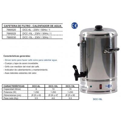 DISPENSADOR DE CAFE Y AGUA CALIENTE 6 litros