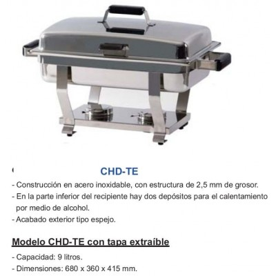 CHAFING DISH TAPA EXTRAIBLE CHD-TE