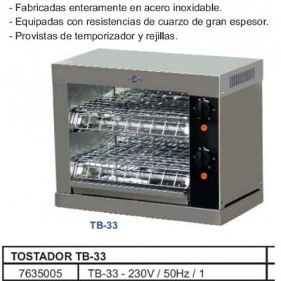TOSTADORA DE PAN ELECTRICA TB-33