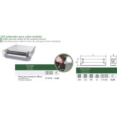 Acoplar kit golpeador en cajón modular