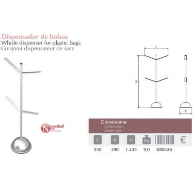 Columna para dispensador de bolsas 550x290x1245 m