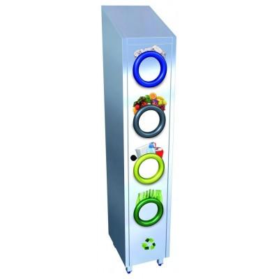 Contenedor de reciclaje vertical 370x480x2010 mm.