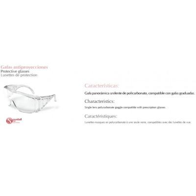 Gafa antiproyecciones en policarbonato