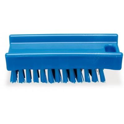 Cepillo limpiauñas de poliéster azul 110x45 mm.