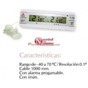 Termómetro digital con doble sonda para frigorífi