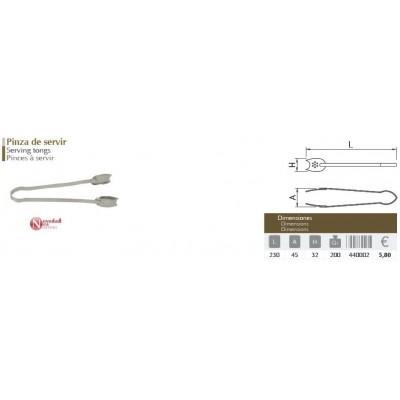 Pinza inox de servir 230x45x32 mm.