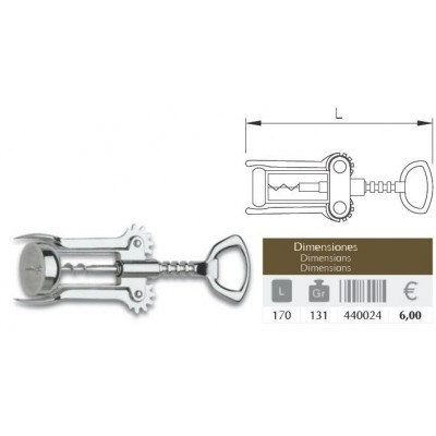 Sacacorcho tirolés 170 mm.