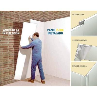 Panel revestimiento pvc p300 for Revestimiento de pvc para paredes precios