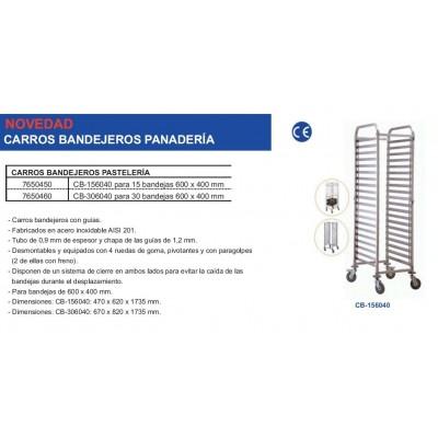 CARRO PASTELERO 15 BANDEJAS 60X40