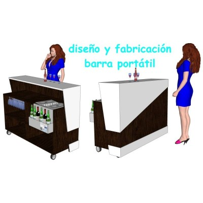 BARRA PORTATIL INOXIDABLE Y MADERA