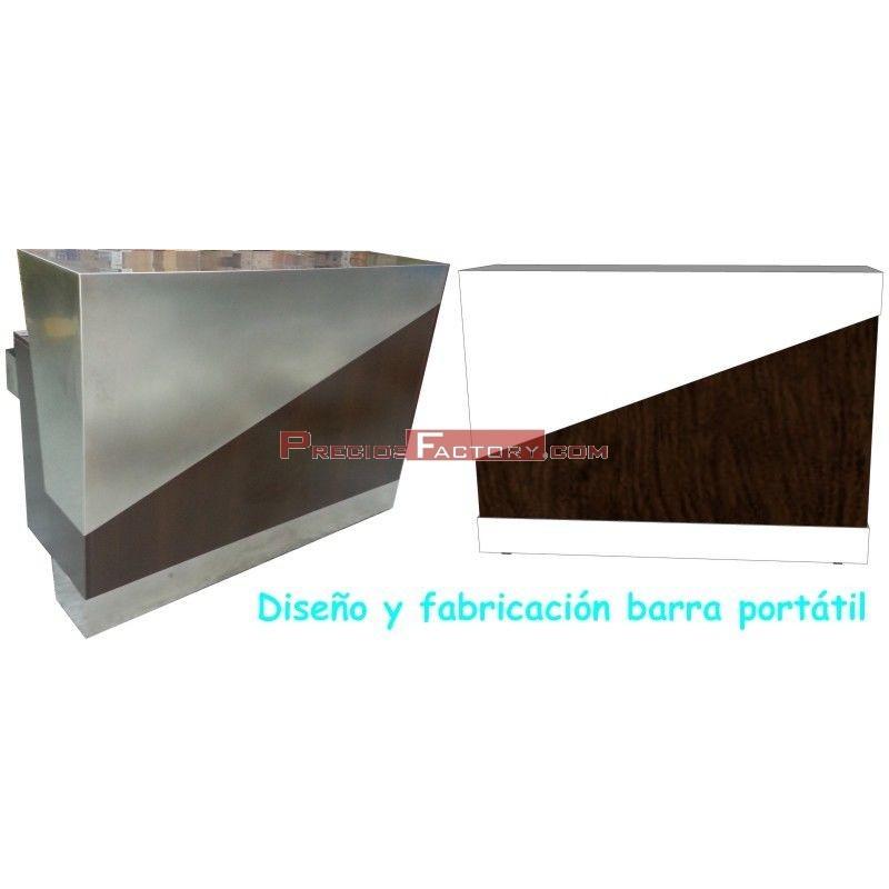 Barra portatil inoxidable y madera for Fabricacion de bares de madera