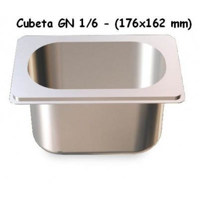 CUBETA GN 1/6 INOXIDABLE