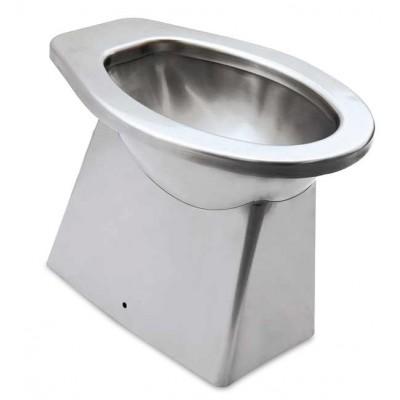 WC acero inox. 366x521x390 mm. Salida vertical