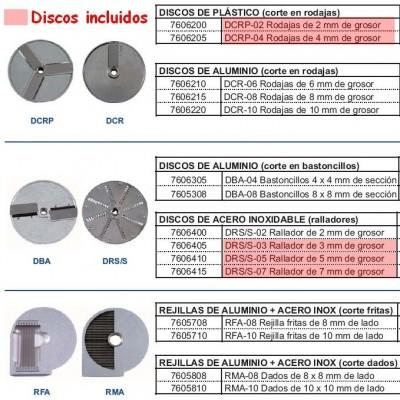 CH60- CORTADORA HORTALIZAS+5 DISCOS